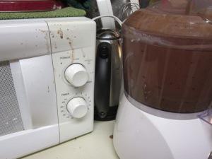 Chocolate ganache everywhere!