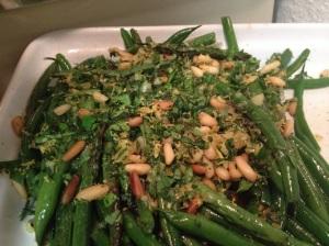 Green Bean Gremolata. Really good, and easy!