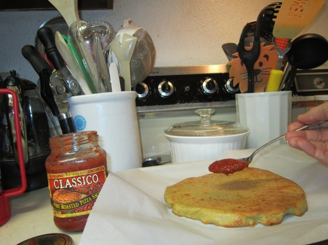 Add the sauce. . .